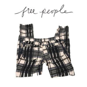 Free People Plaid Corduroy Skinny Jeans. Sz 27
